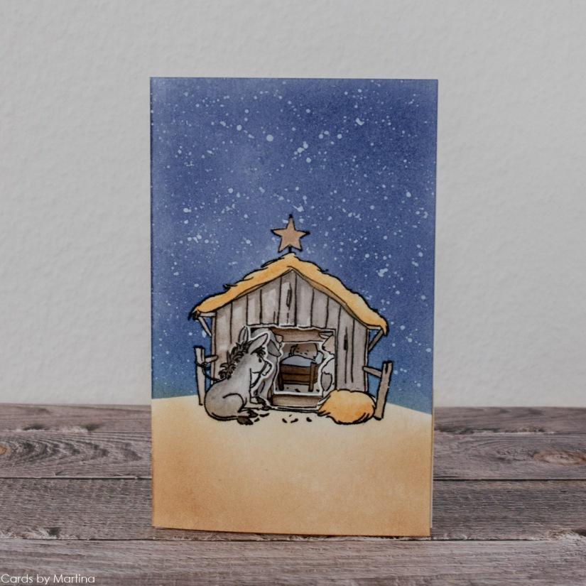 Art Impressions, Nativity MTF, Christmas Card, Cards by Martina